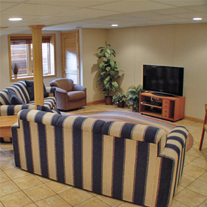 A Finished Basement Living Room Area in Chapmanville, WV, KY, OH