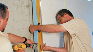 installing a basement wall finishing system in Portsmouth