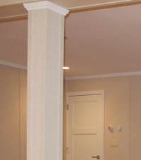 Easy Wrap column sleeves in Athens basement