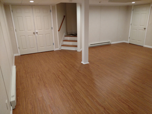 Basement Flooring After in Charleston