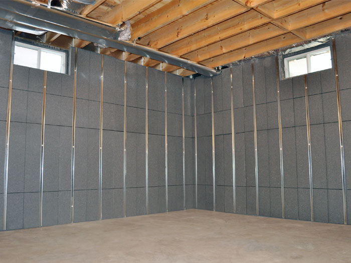 insulated basement wall panels basement wall insulation rh alfordhomesolutions com Building Stud Walls in Basement Metal Wall Studs Basement