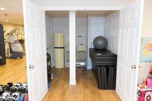 TBF finished basement with home gym in Saint Albans