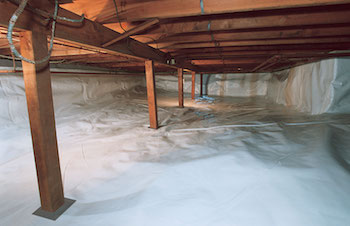 CleanSpace vapor barrier sealed crawl space