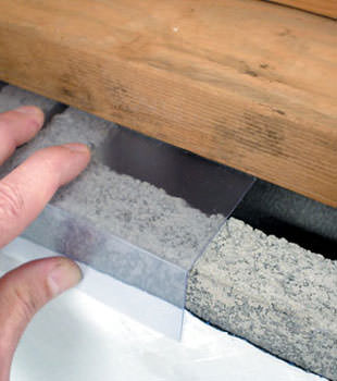 Block wall clear covering for wet crawl spaces in Hurricane