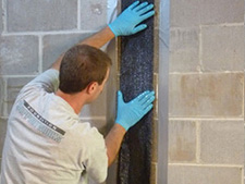 CarbonArmor® Strip applied to wall in Portsmouth