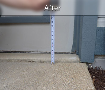 Concrete Leveling Before & After | PolyLevel Concrete Repair