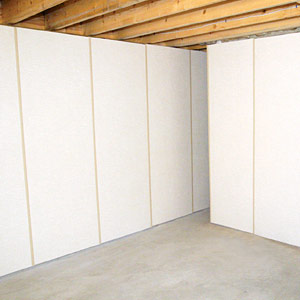 Insulated basement wall panels