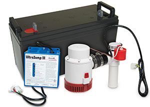 a battery backup sump pump system in Gallipolis
