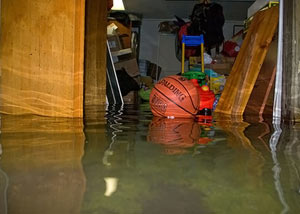 Flooded basement in Saint Albans
