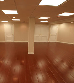 Rosewood faux wood basement flooring for finished basements in Saint Albans